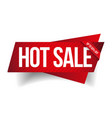 Hot Sale banner ribbon vector image