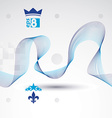 Elegant flowing lines background royal design eps8 vector image