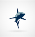 shark logo sign two colors vector image