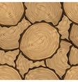 Cut log butt seamless pattern vector image