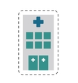 building hospital medicine healthcare cut line vector image