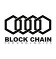 business block chain logo vector image