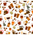 coffee drink and cocktail seamless pattern vector image