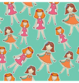 girls in pj vector image
