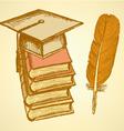 Hat Book vector image