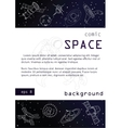 Outer space background poster design vector image