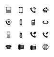 phones - flat icons vector image