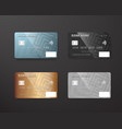 realistic credit card template set bank card vector image