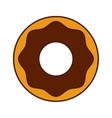 sweet donut isolated icon vector image
