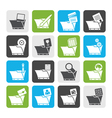 Flat Computer and Phone Icons - Folders vector image vector image