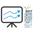Dotted Trends Board Icon With 2017 Year Bonus vector image