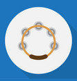 of song symbol on tambourine vector image