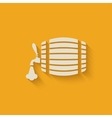 beer barrel background vector image