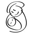 mother kid vector image vector image