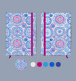 blue copybook template with elastic band and vector image