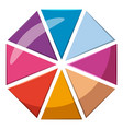 colorful circle divided into eight parts icon vector image