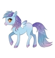 Colorful pony with wings vector image
