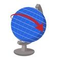 Globe cartoon icon vector image