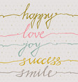 happy love joy success smile inspirational vector image