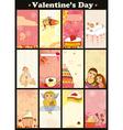 Love Card Vertical Set vector image