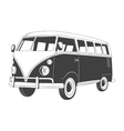 Retro Travel bus Side view vector image