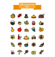 Thanksgiving Day icons set Harvest vector image