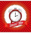 special offer clock banner design vector image