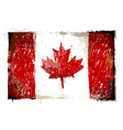Grungy Canadian flag vector image