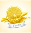 juicy lemon vector image vector image