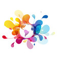 abstract colored background with polygonal globe vector image