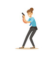 police women officer with gun character vector image