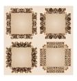 Set of frames for design on beige vector image