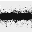 Grunge ink splattered background element with a sp vector image