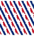 American stars and stripes seamless pattern vector image vector image