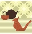 clay made tea ceremony set vector image