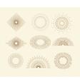 Set of vintage sunbursts in different shapes vector image
