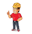 Handsome Construction Worker Showing Thumb Up vector image