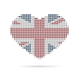 I love UK Creative heart flag vector image