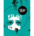 Typographic Grunge Design for Film Society vector image