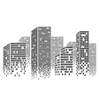 Dotted Skyscrapers vector image vector image