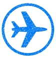Airport Grainy Texture Icon vector image