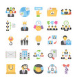 business flat colored icons 12 vector image