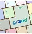 Computer keyboard button with grand button vector image