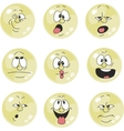 Emotion smiles yellow color set 011 vector image