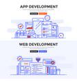 flat design concept banner - app development and vector image