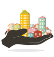 Flat Design Paper Houses - Buildings Set - City or vector image