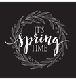 Floral Spring wreath on a blackboard vector image