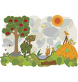land of permaculture vector image