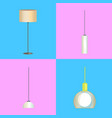 modern stylish lamp and chandelier vector image
