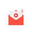 new video notification in red letter vector image